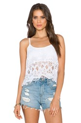 Gypsy 05 Crochet Tank White