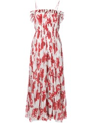 Adam By Adam Lippes Floral Print Maxi Dress Women Silk Polyester 2 White