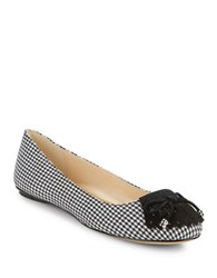 Karl Lagerfeld Lasalle 2 Houndstooth Flats Black White