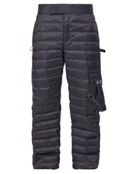 Off White Quilted Patch Pocket Track Pants Black