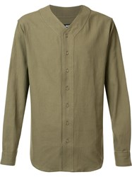 Publish Collarless Shirt Green