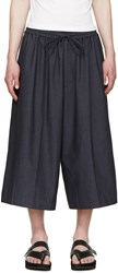 Juun.J Navy Wide Leg Trousers