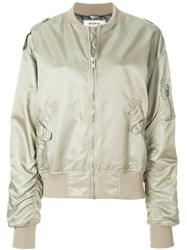 Misbhv Do You Still Think Of Me Bomber Jacket Nude And Neutrals