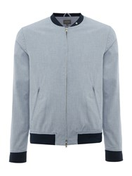 Peter Werth Rogers Kinsman Zip Through Bomber Jacket Blue