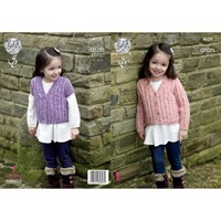 King Cole Fashion Aran Combo Children's Cardigan Knitting Pattern 4629