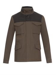 Lanvin Leather And Cotton Field Jacket