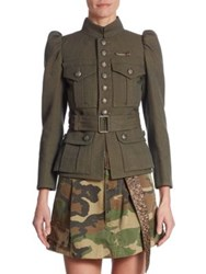 Marc Jacobs Wool Military Jacket Green