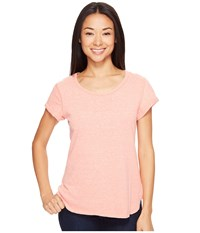 Columbia Trail Shaker Short Sleeve Shirt Lychee Heather Women's Short Sleeve Pullover Pink