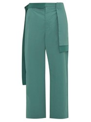 Craig Green Panelled Straight Leg Trousers Turquoise