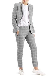 Women's Topshop Check Slim Fit Blazer