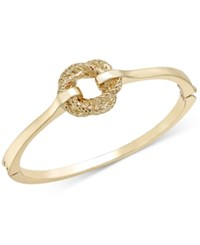 Charter Club Gold Tone Mesh Knot Hinge Bracelet Only At Macy's