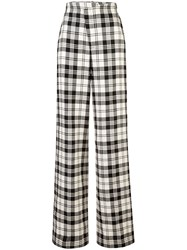Monse Plaid Flared Trousers Unavailable