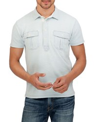 Lucky Brand Cotton Polo Blue