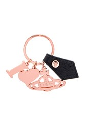 Vivienne Westwood I Love Orb Rose Gadget Key Ring Metallic Copper