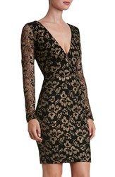 Dress The Population Women's 'Erica' Plunge Neck Lace Body Con