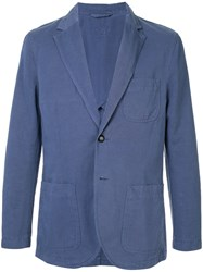 Gieves And Hawkes Relaxed Blazer Blue