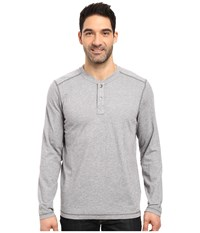 The North Face Long Sleeve Copperwood Henley Zinc Grey Heather Men's Clothing Gray