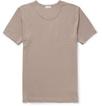 Zimmerli Pureness Stretch Modal T Shirt Taupe