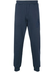 Alexander Mcqueen Slim Fit Track Pants Blue