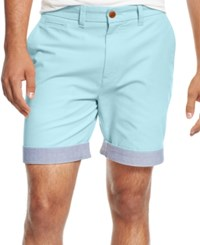 Tommy Hilfiger Men's Big And Tall Custom Fit Chino Shorts Aqua Sky
