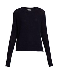 The Row Muriel Cashmere Sweater Navy