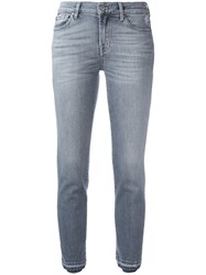 7 For All Mankind Cropped Jeans Grey