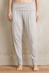 Anthropologie Foldover Joggers Grey