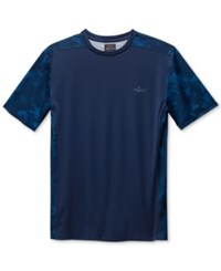 Greg Norman For Tasso Elba Men's Performance Sun Protection T Shirt Blue Socke