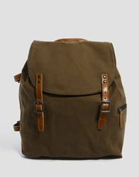 Royal Republiq Legioner Mine Canvas Backpack In Olive Green