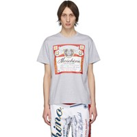Moschino Grey Budweiser Edition Logo T Shirt