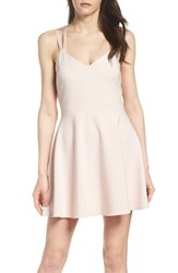 French Connection Women's Whisper Light Fit And Flare Dress Powder Pink