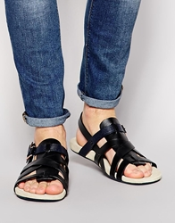 Paul Smith Jeans Seberg Leather Sandals Black