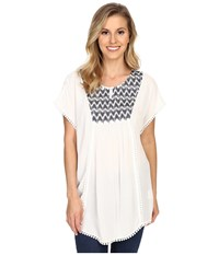 Ariat Gloria Tunic Snow White Women's Short Sleeve Pullover