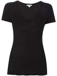 James Perse Scoop Neck T Shirt Black