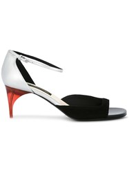 Alain Tondowski Ankle Strap Sandals Black