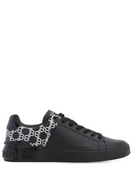 Balmain B Court Iridescent Leather Sneakers Black