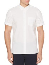 Perry Ellis Classic Cotton Button Down Shirt Bright White