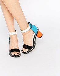 Kat Maconie Neive Multi Colored Block Heeled Sandals Multi