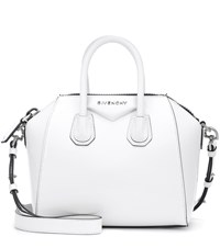 Givenchy Antigona Mini Leather Shoulder Bag White