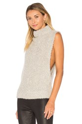 Autumn Cashmere Boucle Funnel Neck Sweater Beige