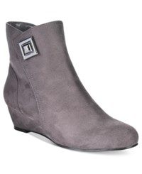 Impo Giovanna Wedge Booties Women's Shoes Steel Grey