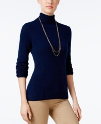 Charter Club Cashmere Turtleneck Sweater Only At Macy's 16 Colors Available Admiral Navy