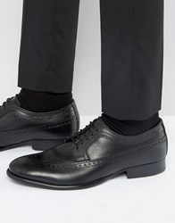Base London Bailey Leather Oxford Shoes Black