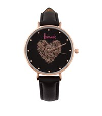 Harrods Icon Heart Watch Black