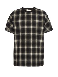 Public School Plaid Print Dolman Sleeve Cotton T Shirt