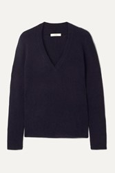 Vince Ribbed Cashmere Sweater Navy