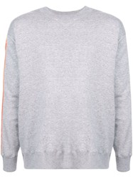 Julien David Contrast Stripe Sweatshirt Grey