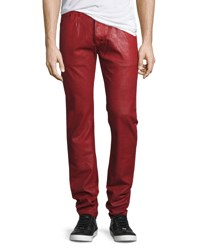 Prps Demon Heavy Resin Coated Jeans Red