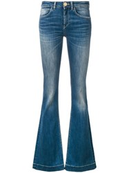 L'autre Chose Flared Jeans Blue