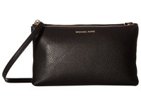 Michael Michael Kors Adele Double Zip Crossbody Black Cross Body Handbags